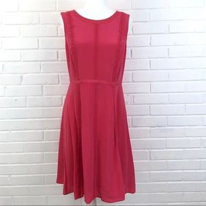 Talbots Sleeveless Aline Dress Silk Pink 8